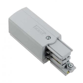 Nordic Aluminium Stromschienensystem XTS 12-1 Endeinspeisung links, Alu/Grau, end feed grey