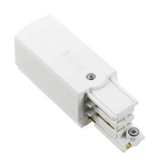 Nordic Aluminium Stromschienensystem XTS 12-3 Endeinspeisung links, Weiß, end feed white