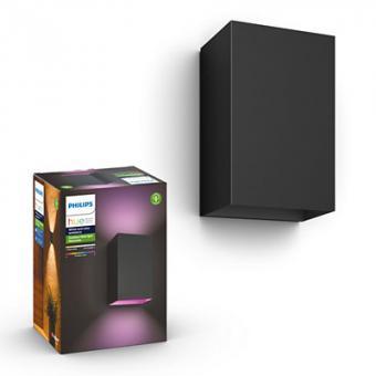 Philips  Resonate Hue WACA wall lantern black 2x8